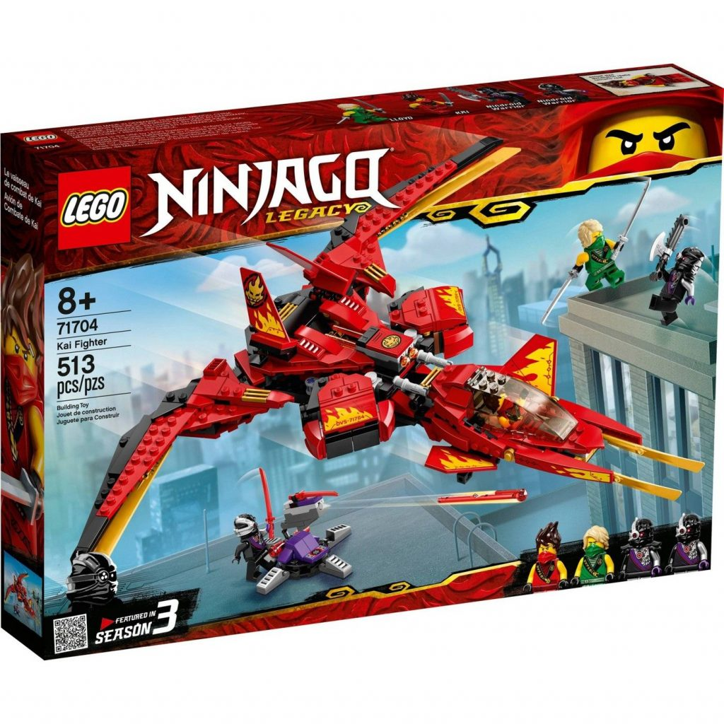 LEGO NINJAGO Legacy Kai Fighter Ninja Playset Building Kit 71704