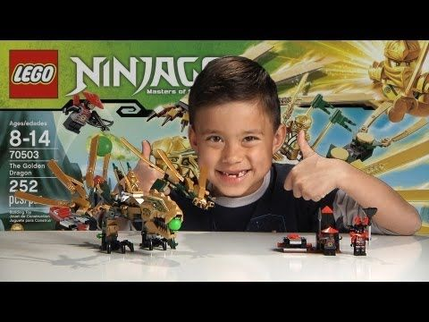 THE GOLDEN DRAGON – LEGO NINJAGO Set 70503 – Time-lapse Build, Unboxing & Review