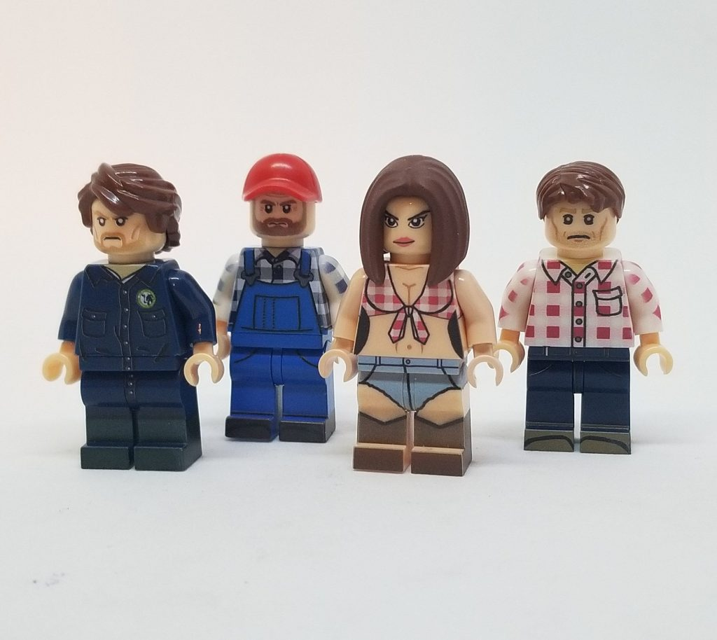 Letterkenny Collection: Custom Printed Movie/TV Minifigures 4 Set NEW Calypso Customs Minifigure Featuring UV Printed Pieces