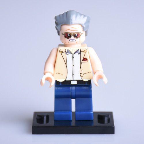 Stan Lee Custom Marvel DC SuperHeroes Minifigures Minifigs Fit Lego P075