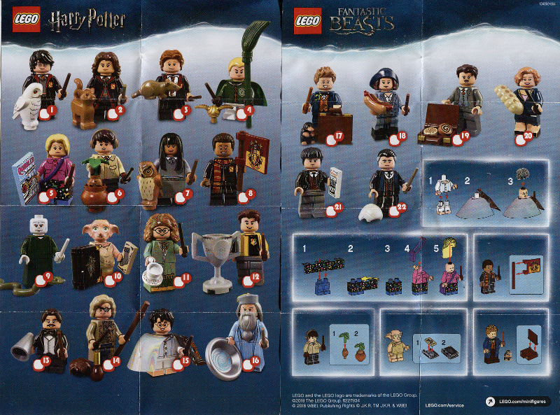 Set 71022-1 : Lego Minifigure, Harry Potter & Fantastic Beasts (1 Random Complete Minifigure Set) [Collectible Minifigures:Harry Potter] – BrickLink Reference Catalog