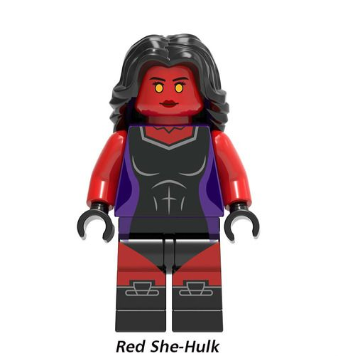 Red She-Hulk Avengers Custom Marvel DC Super Heroes Minifigs Minifigures Fit Lego X1151