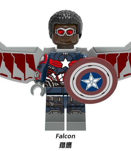 Falcon Captain America Endgame Avengers Custom Marvel Super Heroes Minifigs Minifigures Fit Lego X1306