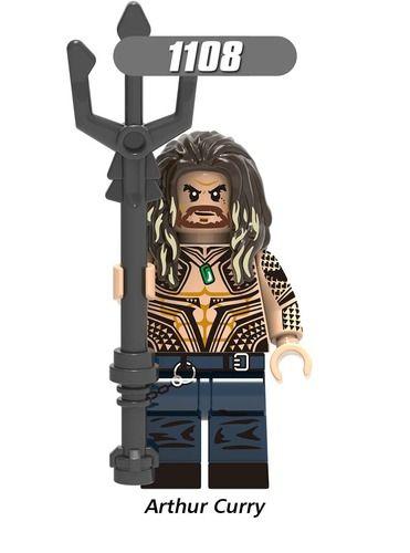Aquaman Custom Marvel DC Super Heroes Minifigures Minifigs Fit Lego X1108
