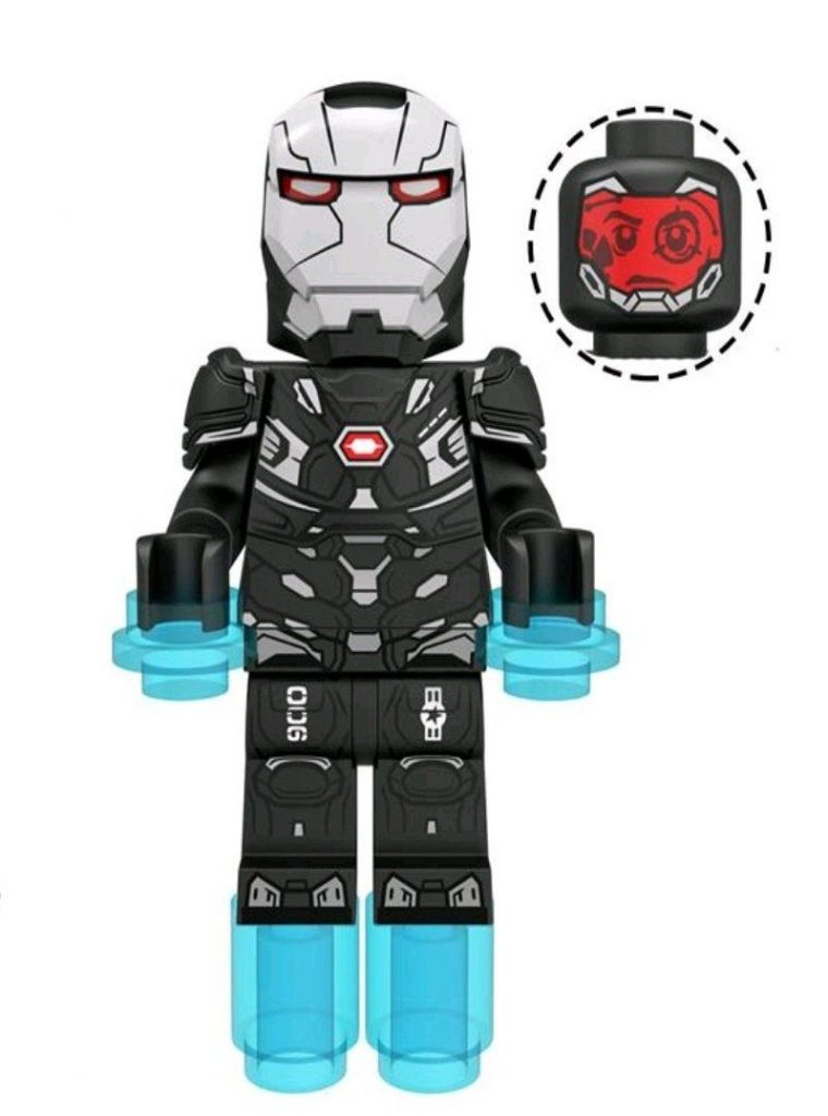 War Machine Marvel Avengers Custom minifigure.   Brand new in package.