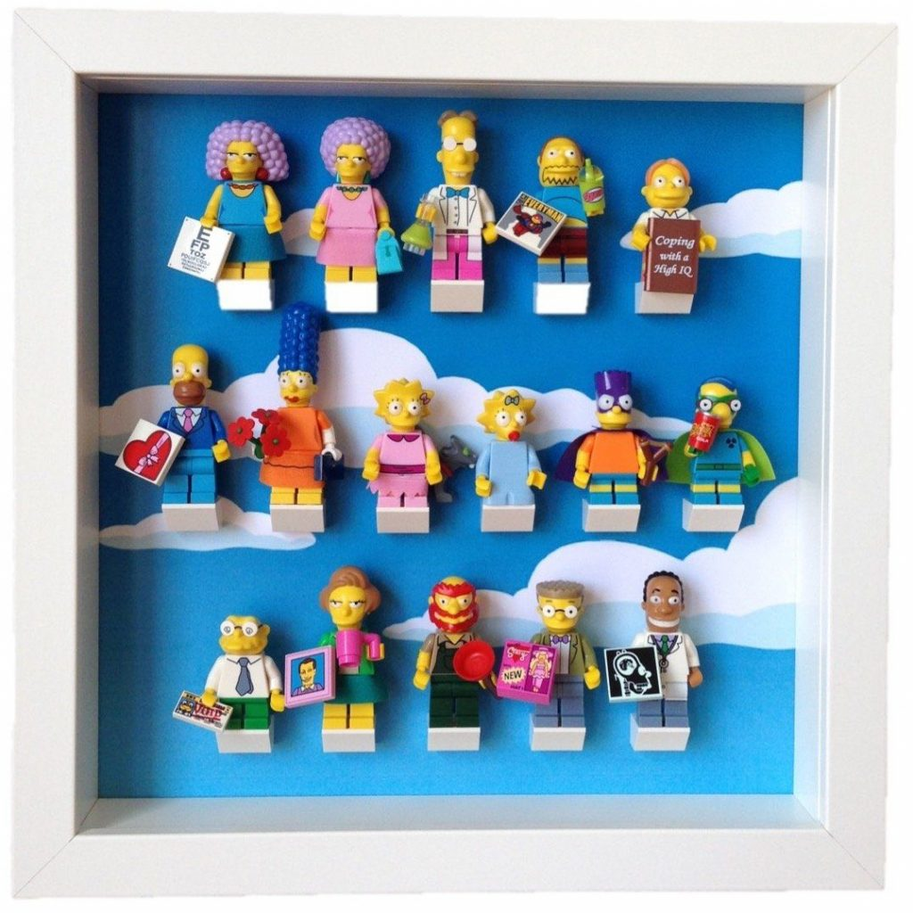 Frame for Lego® Simpsons Series 2 Minifigures – White / Blue