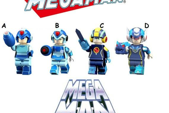 Mega Man minifigures game versionYuanzu Rockman Ax video games | Etsy