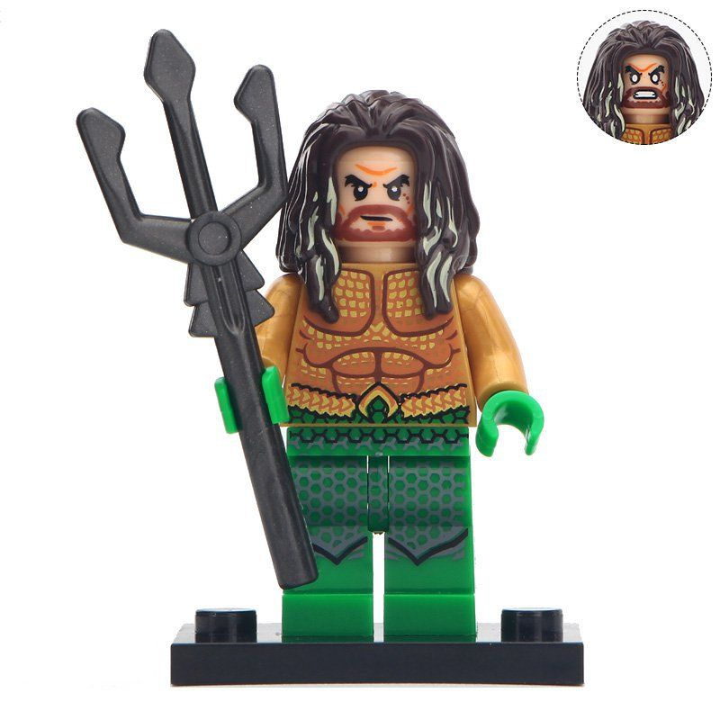 Minifigure Aquaman DC Comics Super Heroes Compatible Lego Building Blocks Toys
