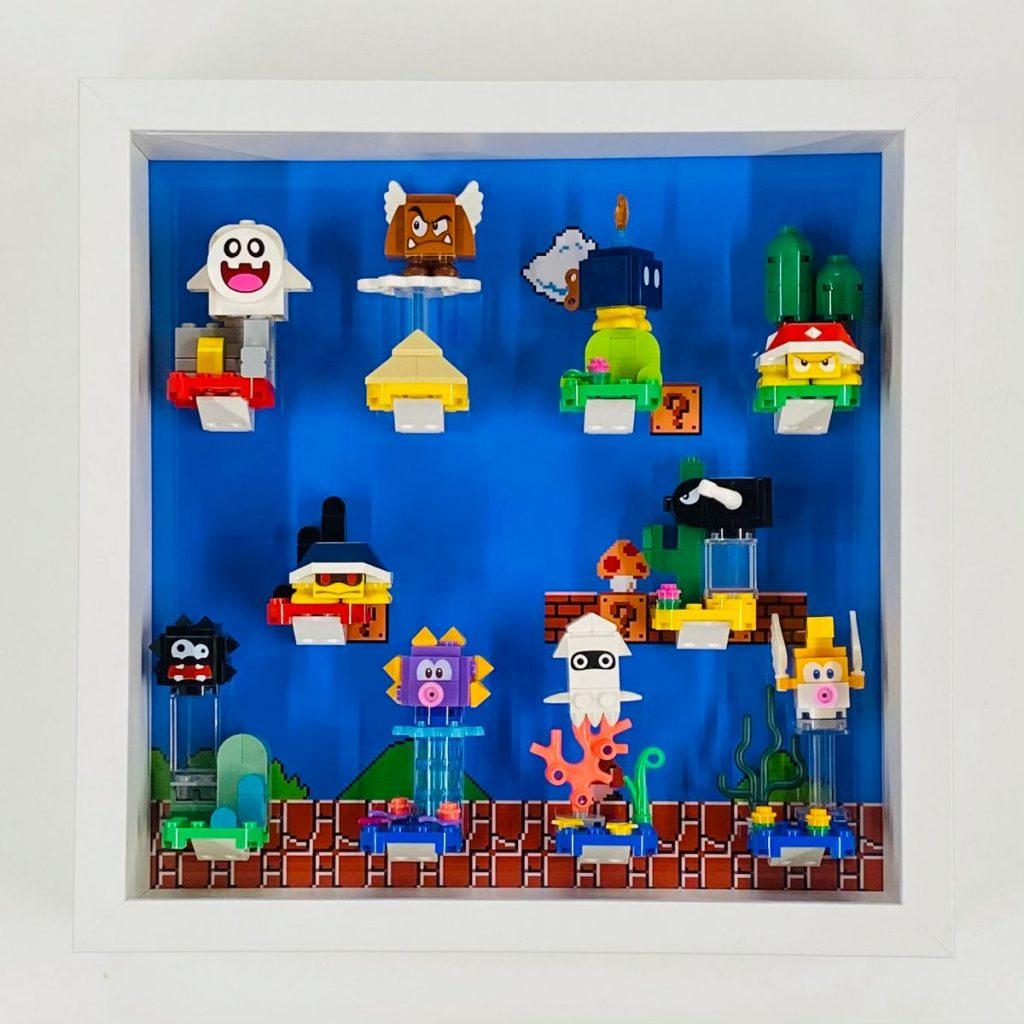 Display case Frame for Lego Super Mario Series minifigures