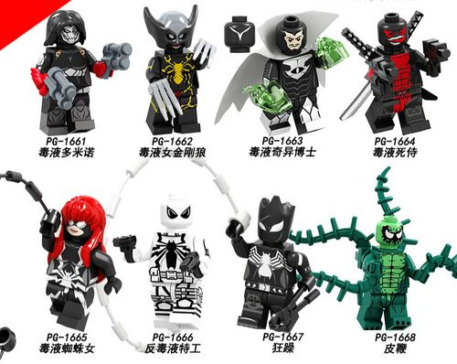 8PCSLot Lasher, Anti-Venom, and Venomverse Minifigures Fit Lego P8190