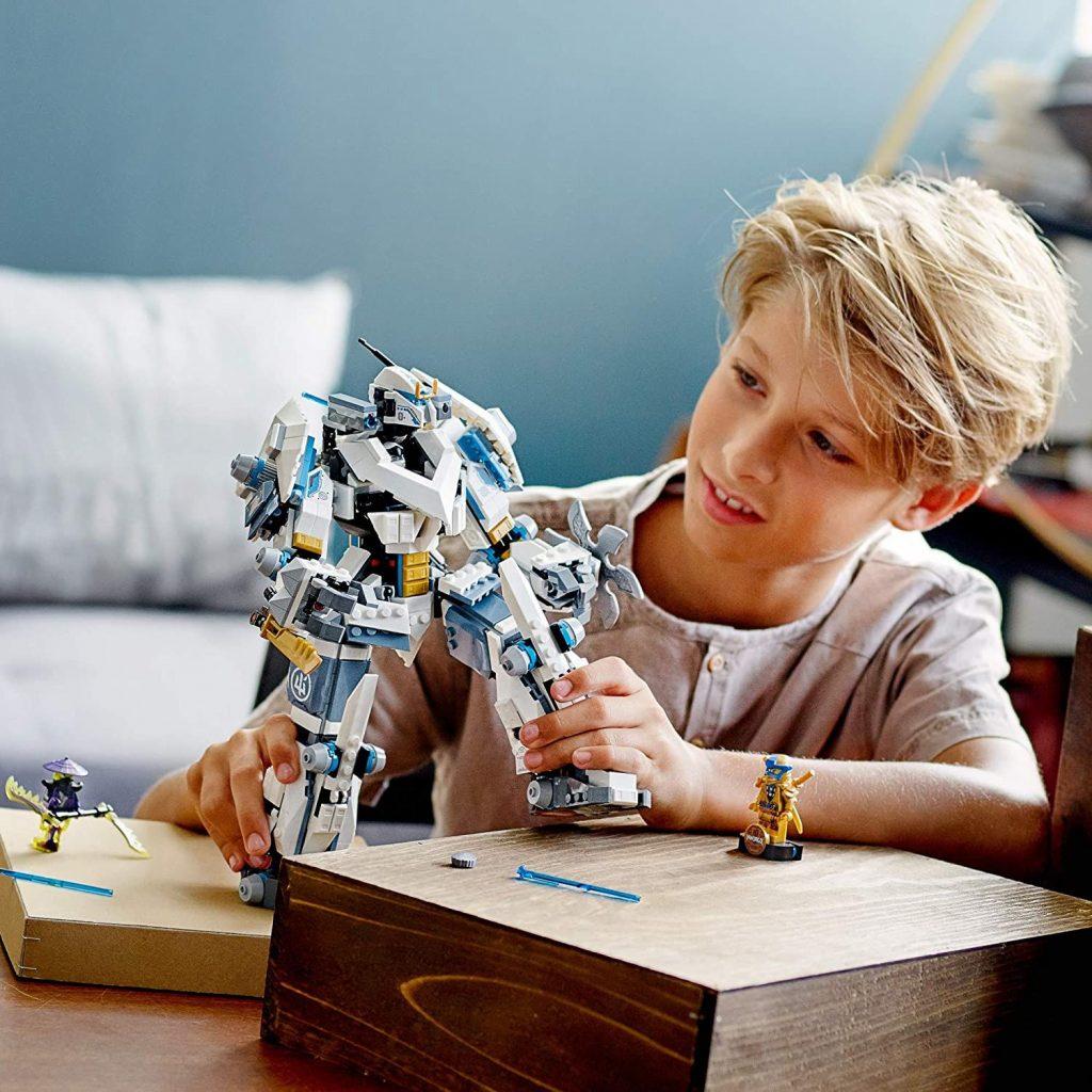 LEGO NINJAGO Legacy Zane's Titan Mech Battle 71738 Ninja Toy Building Kit Featuring Collectible Minifigures, New 2021 (840 Pieces)