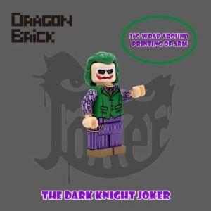 Dragon Bricks The Dark Knight Joker Custom Minifigure | Custom LEGO Minifigures