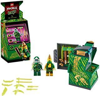 LEGO NINJAGO, Avatar Jay – Capsule Arcade, Set de jeu portatif, Jouets de collection Prime Empire Ninja pour enfants, 104 pièces, 71715