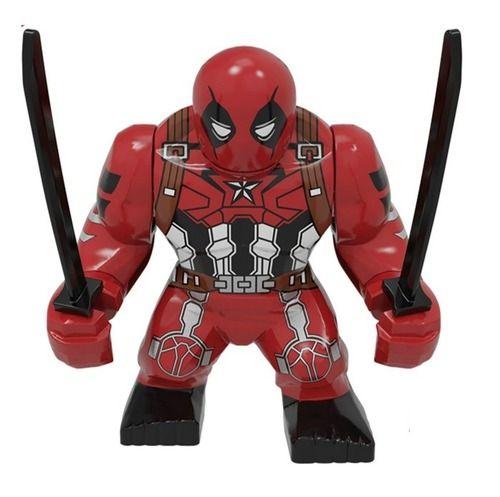Custom Deadpool Marvel Bigfigs Minifigures Fit Lego