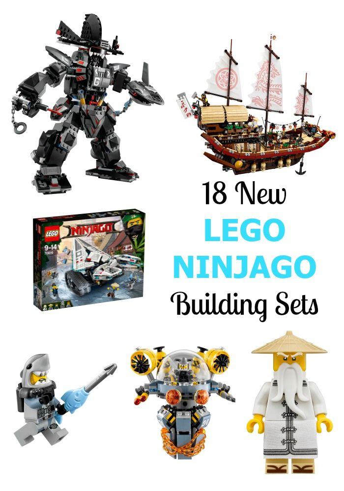 18 NEW LEGO NINJAGO Building Sets + Minifigure Collection