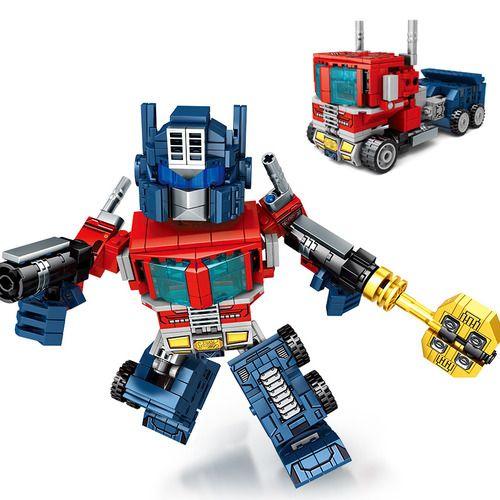 Optimus Prime Transformers Building Set Fit Lego