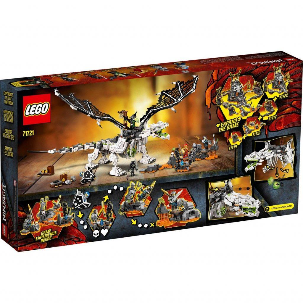 LEGO NINJAGO Skull Sorcerer's Dragon; NINJAGO Dragon Set Building Kit 71721