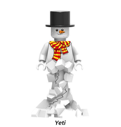 Christmas Yeti Snowman Minifig Minigfigures Fit Lego