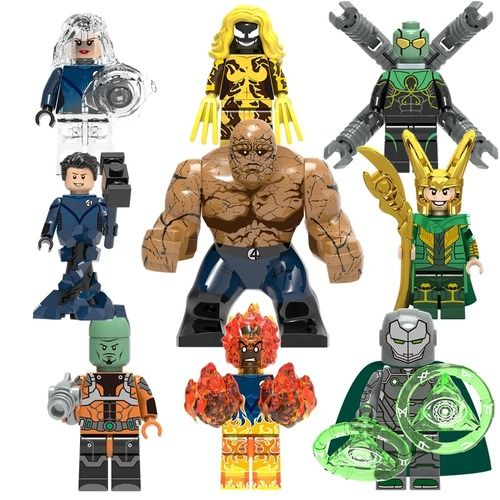 9PCS Infamous Iron Man The Leader Scream & More Minifig