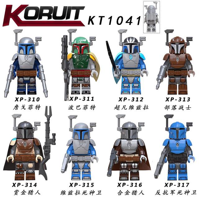 KORUIT KT1041: Various Mandalorian Minifigures with Armor and Guns Preview
