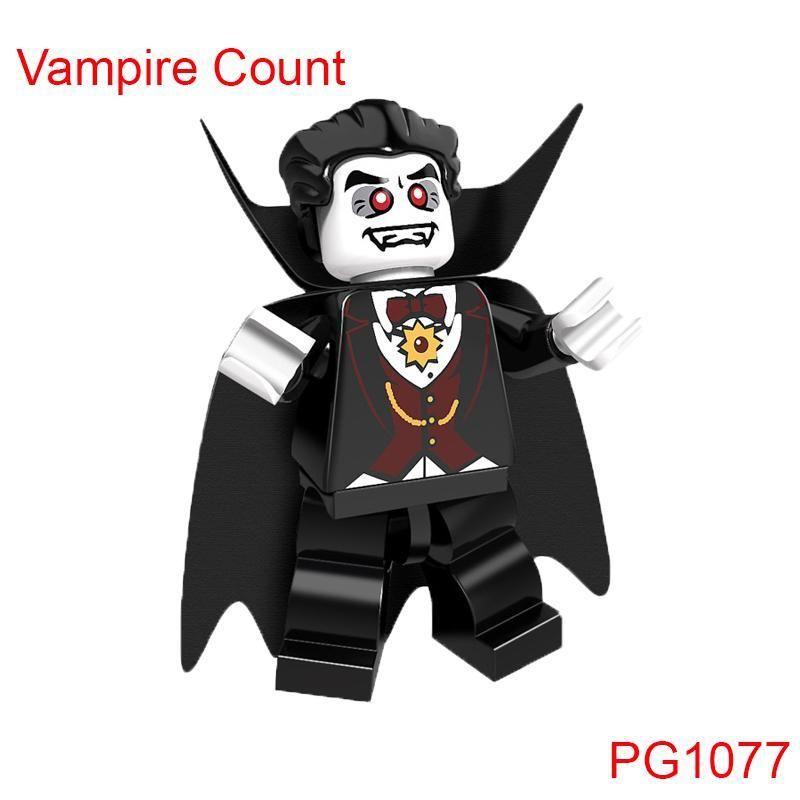 Single Sale Halloween The Horror Theme Movie Vampire Count Zombie Queen Akasha Jack Skellington Ghosts Building Blocks Kids Toys – 1077