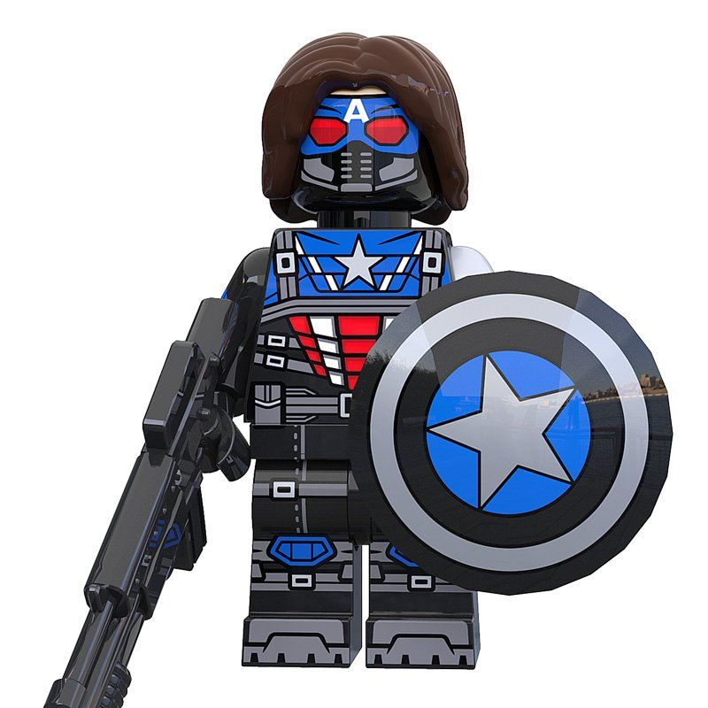 Winter Soldier x Captain America Minifigs Fit Lego