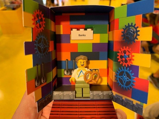New build your own custom Minifigure at The Lego Store at Disney Springs