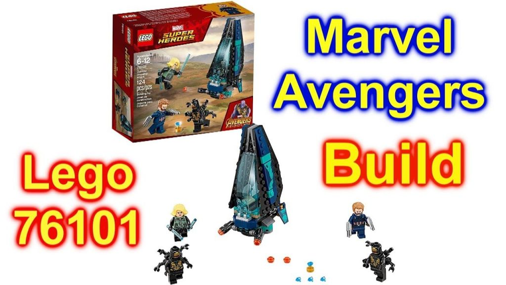 LEGO Marvel Super Heroes Avengers: Infinity War Outrider Dropship Attack 76101 Building Itself