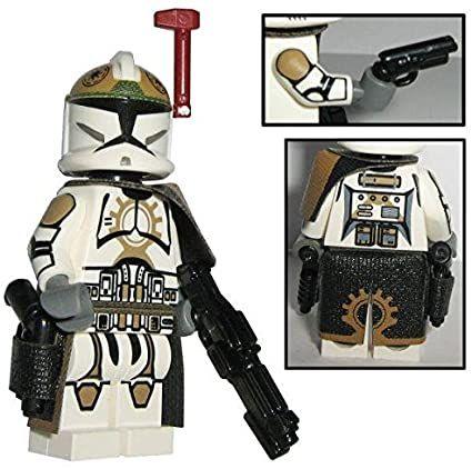 Custom Brick Design 87th Star Corps Legion Clone Trooper Sergeant Offizier Figur V.1 – modifizierte Minifigur des bekannten Klemmbausteinherstellers und somit voll kompatibel zu Lego