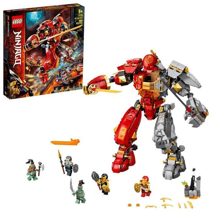 LEGO NINJAGO Fire Stone Mech Ninja Mech Building Toy 71720
