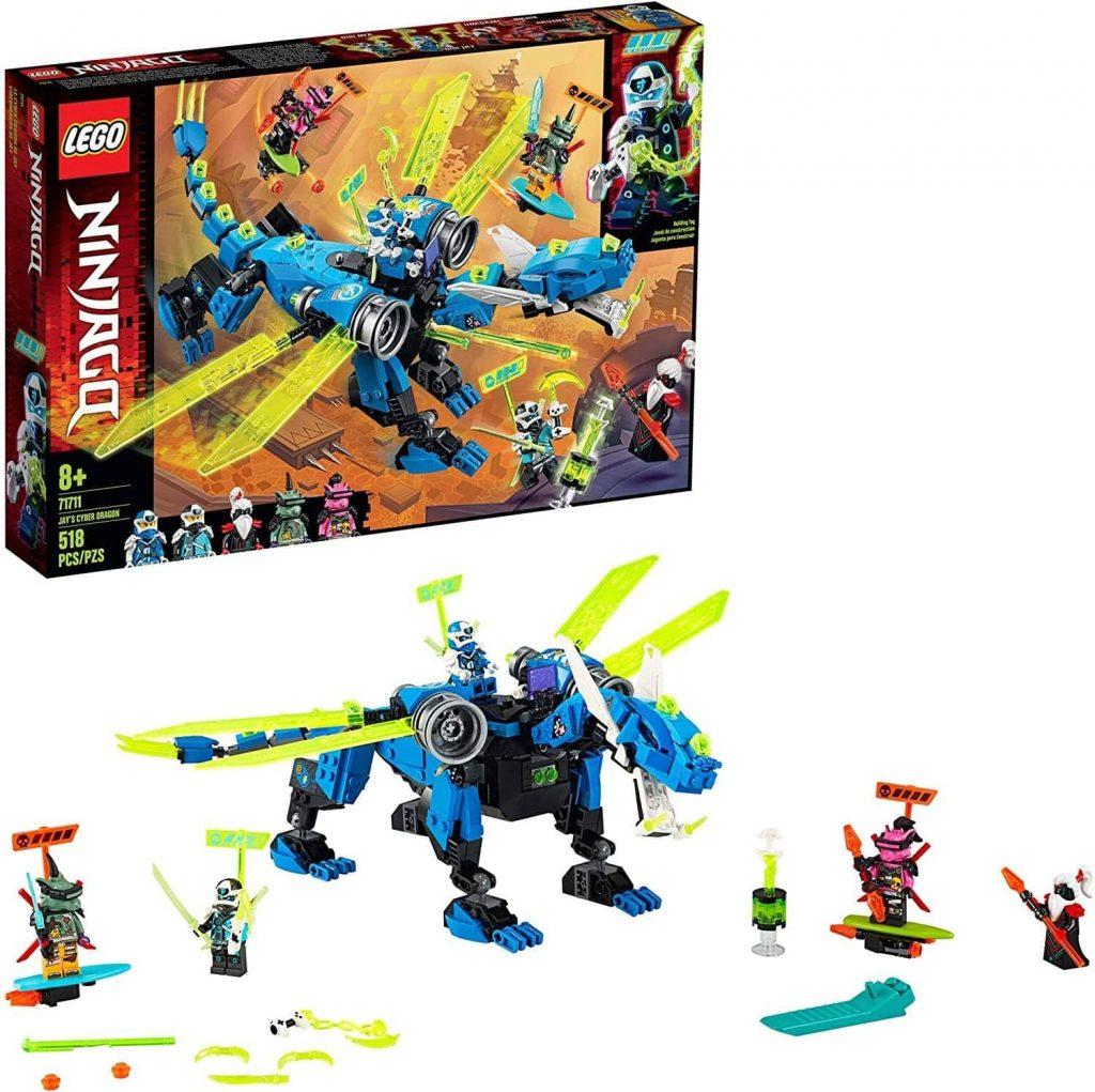 LEGO 71711: NINJAGO: Jays Cyber Dragon (518 Pieces)