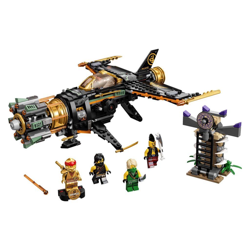 LEGO NINJAGO Legacy Boulder Blaster 71736 Airplane Toy Featuring Collectible Figurines (449 Pieces) – Walmart.com