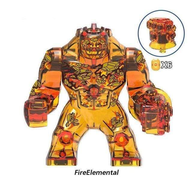 Big Size Marvel Avengers Building Blocks – Multi / L / Fire Elemental