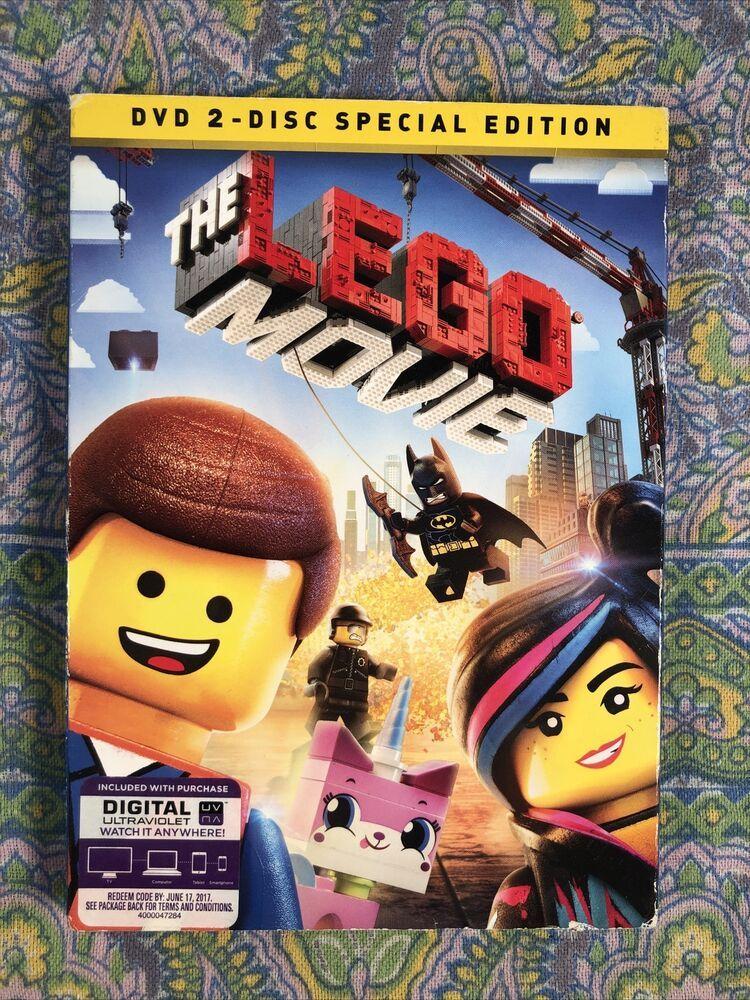 The LEGO Movie (DVD, 2014, 2-Disc Set, Special Edition Includes Digital Copy…