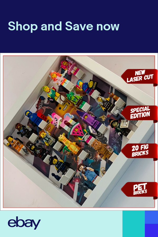 Minifigure Display Case Frame Lego Movie 2 Special Edition 71023 minifig figures