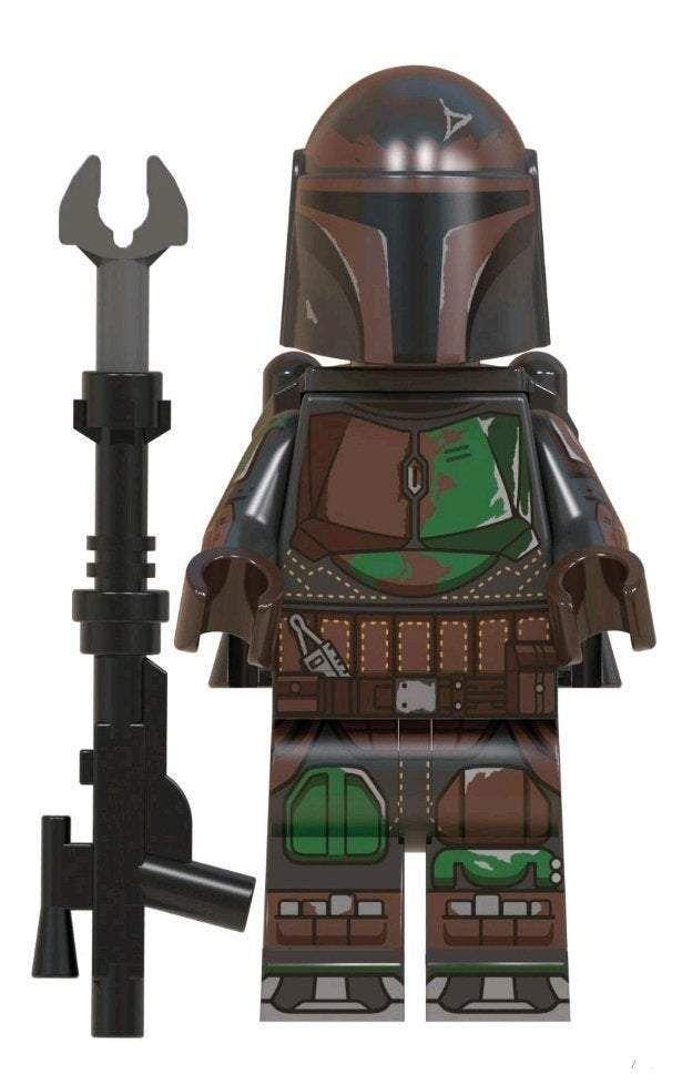 Mandalorian Star Wars Custom minifigure by Beaus Bricks.  Brand new in package.  Please visit shop, lots more! – Default Title