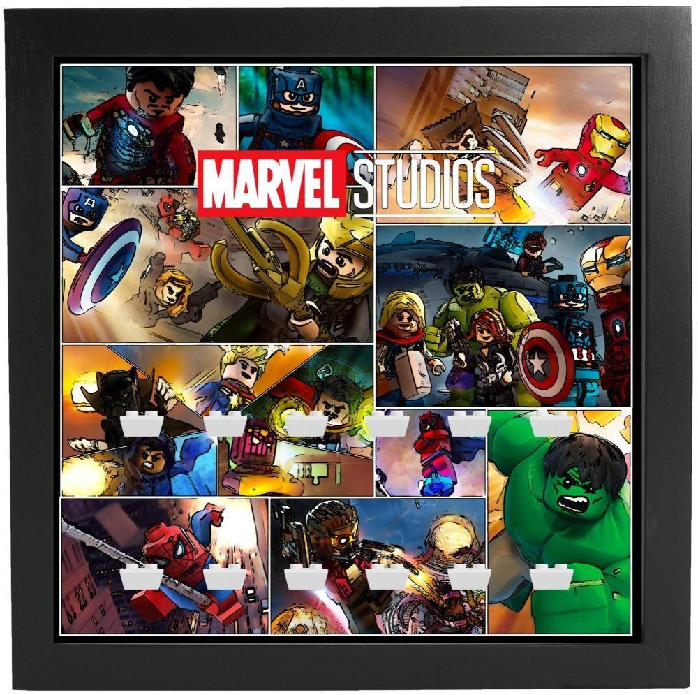 Frame for Lego® Marvel Studios Minifigures Series – color – White / Red