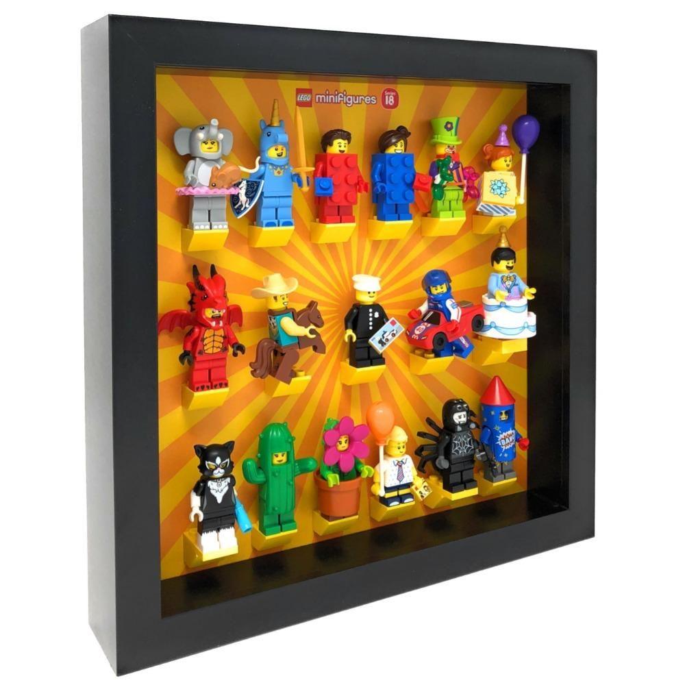 Frame for Lego® Series 18 Minifigures 71021 – Black / White