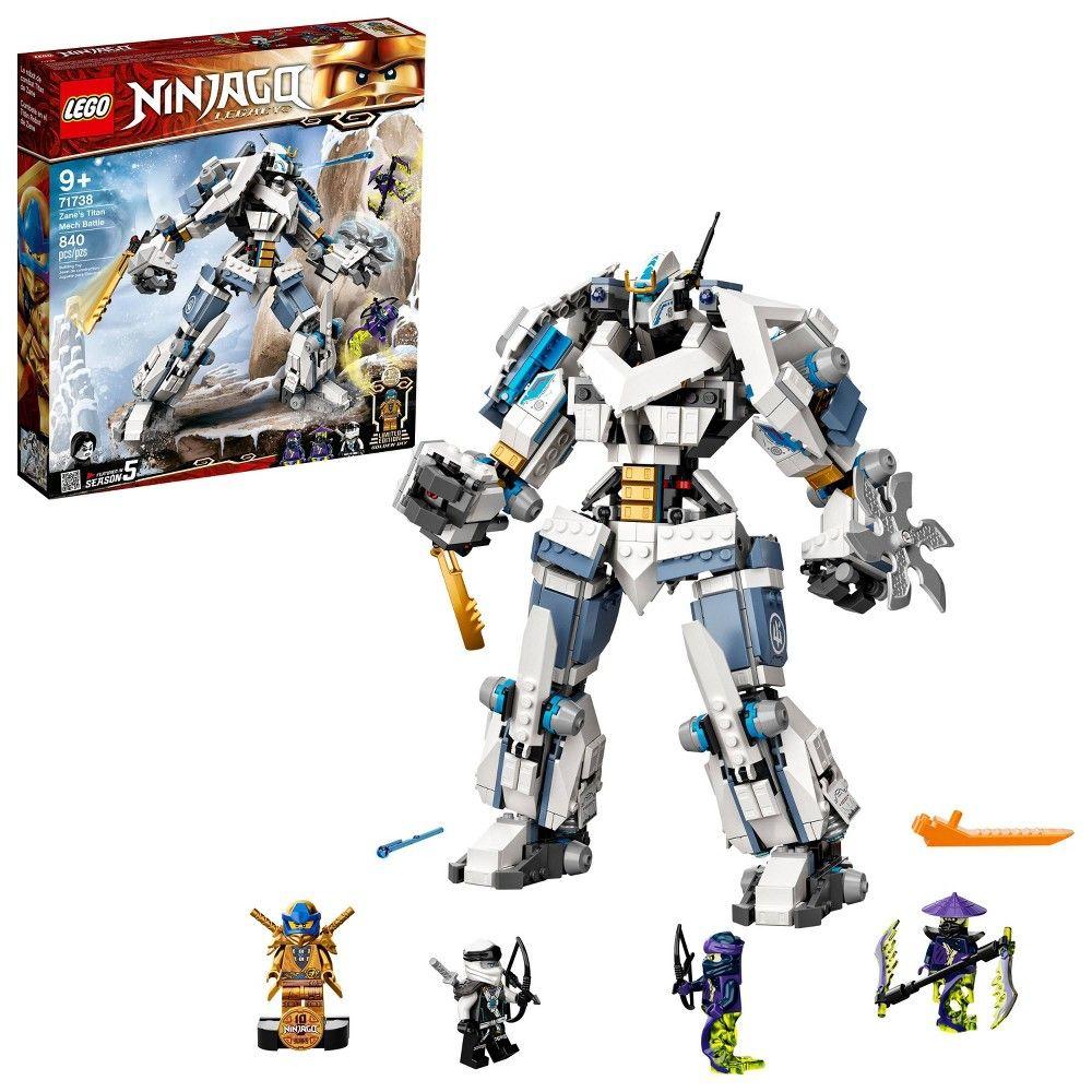 LEGO NINJAGO Legacy Zane's Titan Mech Battle; Ninja Toy Kit Includes Collectible Minifigures 71738