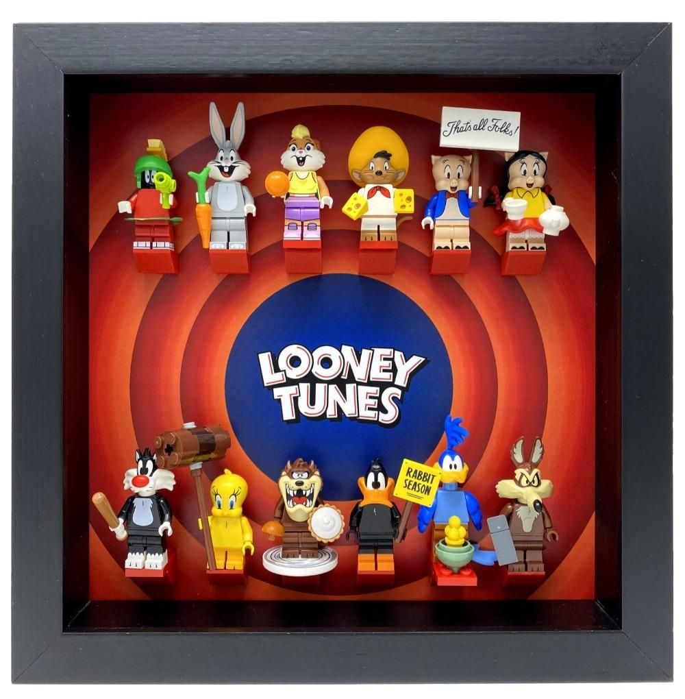 Frame for Lego® Looney Tunes Minifigures – Black / White