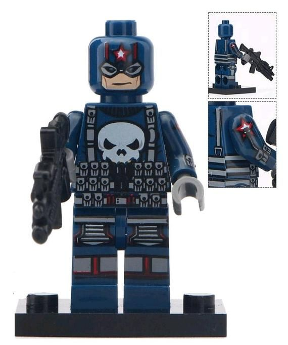 Punisher Custom minifigure by Beau's Bricks.. .  Brand new in package.  Please visit shop, lots more