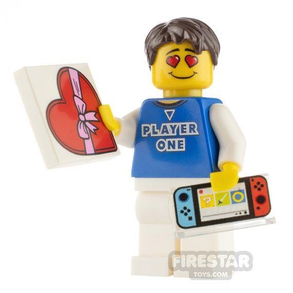Custom Design Minifigure – Romantic Gamer Male